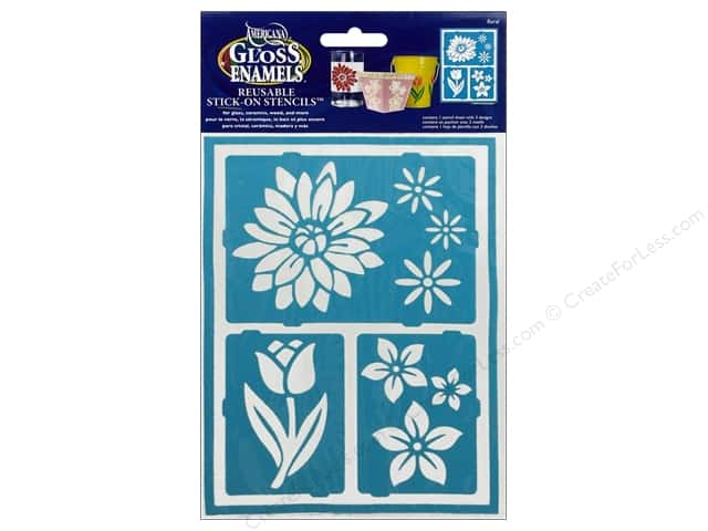 DecoArt Americana Gloss Enamels Stick-On Stencils 6 x 8 in. Floral