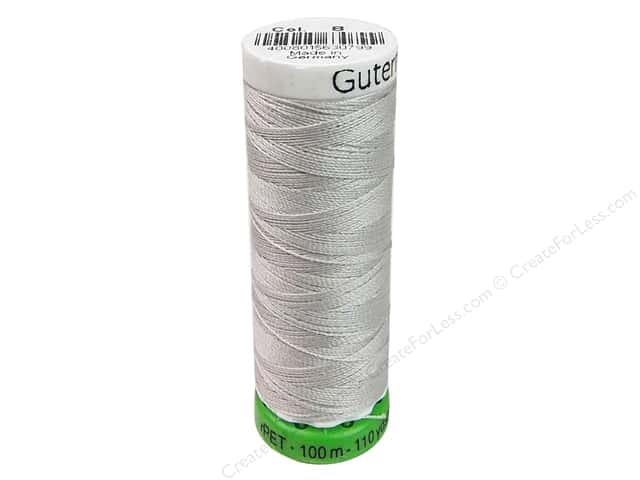 Gutermann Recycled Polyester Thread 110 yd. #008 Silver