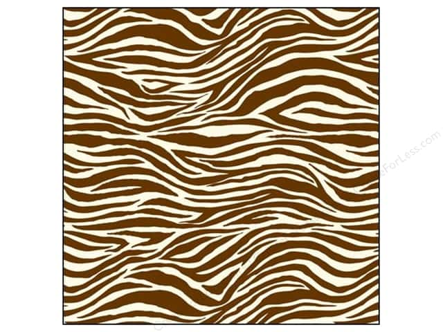 Canvas Corp 12 x 12 in. Paper Chocolate & Ivory Zebra (15 sheets)