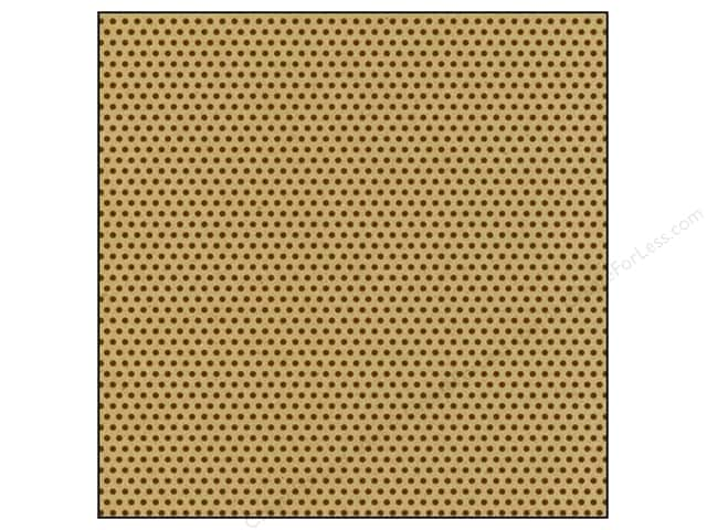 Canvas Corp 12 x 12 in. Paper Chocolate & Kraft Mini Dot (15 sheets)