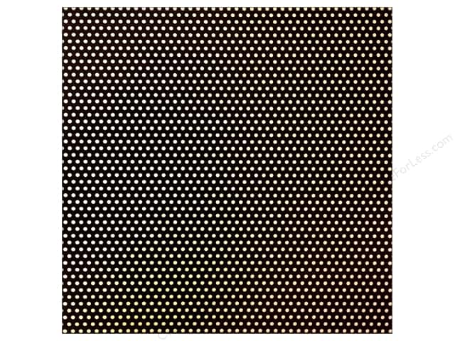 Canvas Corp 12 x 12 in. Paper Black & Ivory Mini Dot Reverse (15 sheets)