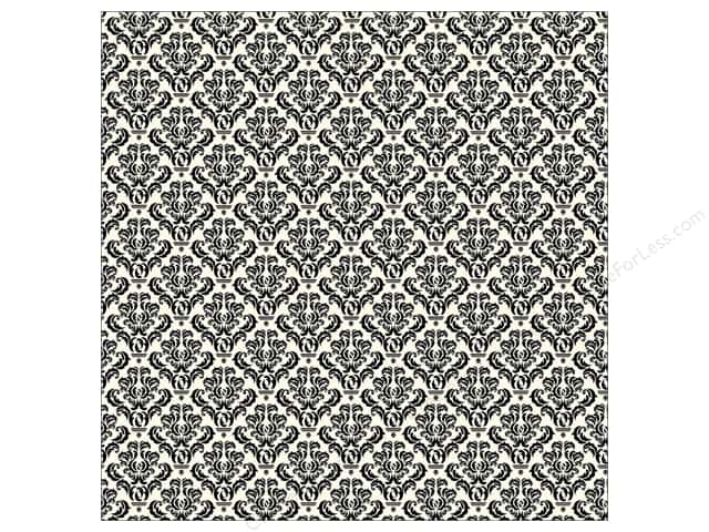 Canvas Corp 12 x 12 in. Paper Black & Ivory Damask (15 sheets)