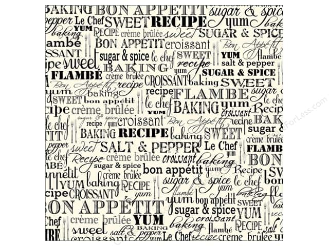 Canvas Corp 12 x 12 in. Paper Black & Ivory Bon Appetit (15 sheets)