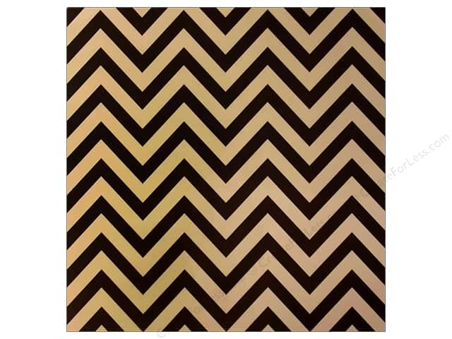 Canvas Corp 12 x 12 in. Paper Black & Kraft Chevron (15 sheets)