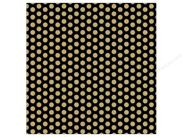 Canvas Corp 12 x 12 in. Paper Black & Kraft Dot Reverse (15 sheets)