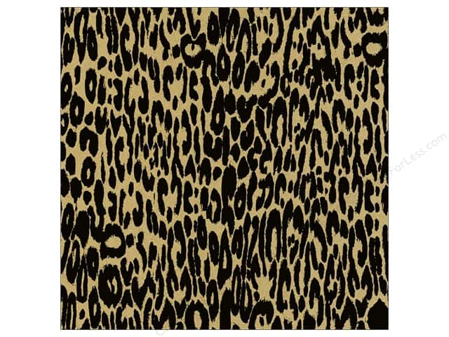 Canvas Corp 12 x 12 in. Paper Black & Kraft Leopard (15 sheets)