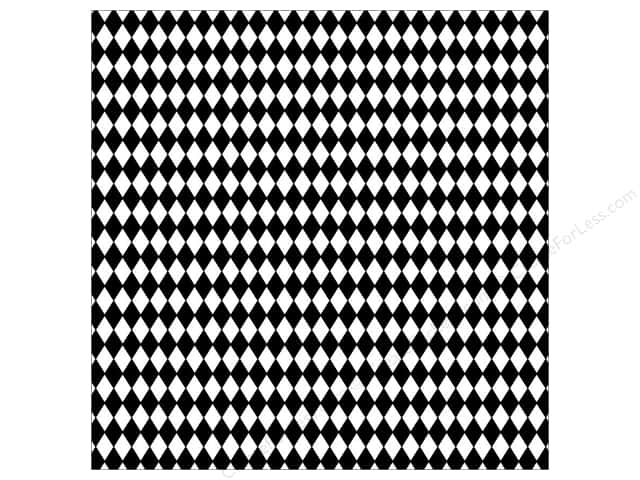 Canvas Corp 12 x 12 in. Paper Black & White Diamonds (15 sheets)