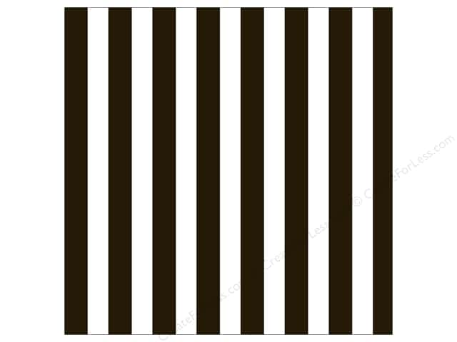 Canvas Corp 12 x 12 in. Paper Black & White Big Stripe (15 sheets)