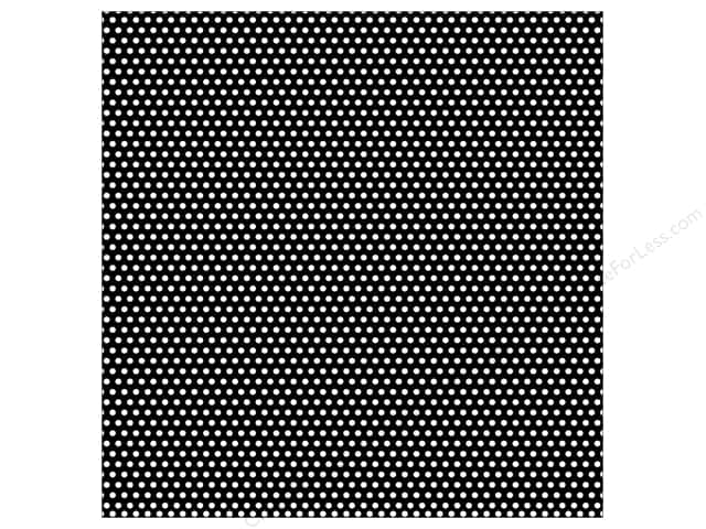 Canvas Corp 12 x 12 in. Paper Black & White Mini Dot Reverse (15 sheets)