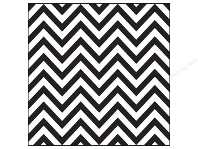 Canvas Corp 12 x 12 in. Paper Black & White Chevron