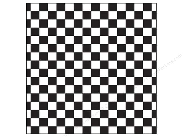 Canvas Corp 12 x 12 in. Paper Black & White Big Check (15 sheets)