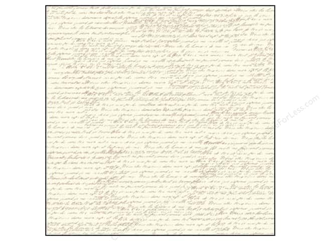 Canvas Corp 12 x 12 in. Paper Tan & Ivory French Script (15 sheets)