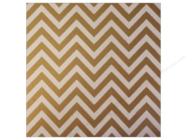 Canvas Corp 12 x 12 in. Paper White on Kraft Chevron (15 sheets)