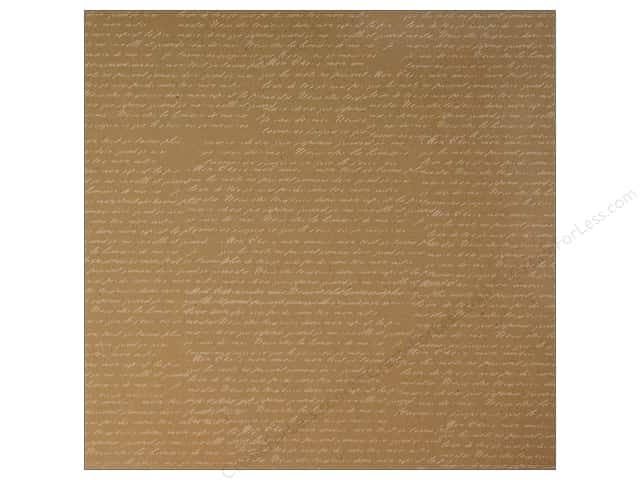 Canvas Corp 12 x 12 in. Paper White on Kraft French Script (15 sheets)