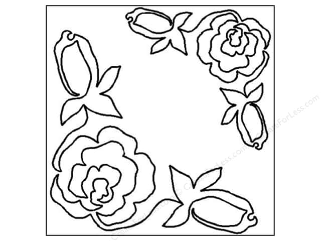Quilting Creations Stencil Rose Corners 7 and 10 in.
