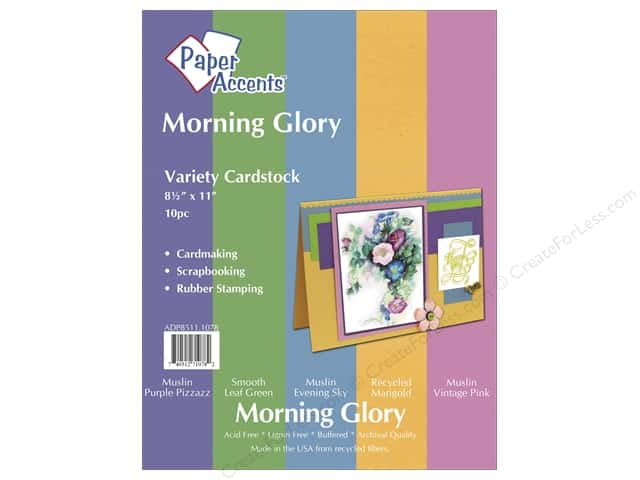 Cardstock Variety Pack 8 1/2 x 11 in. Morning Glory 10 pc. by Paper Accents