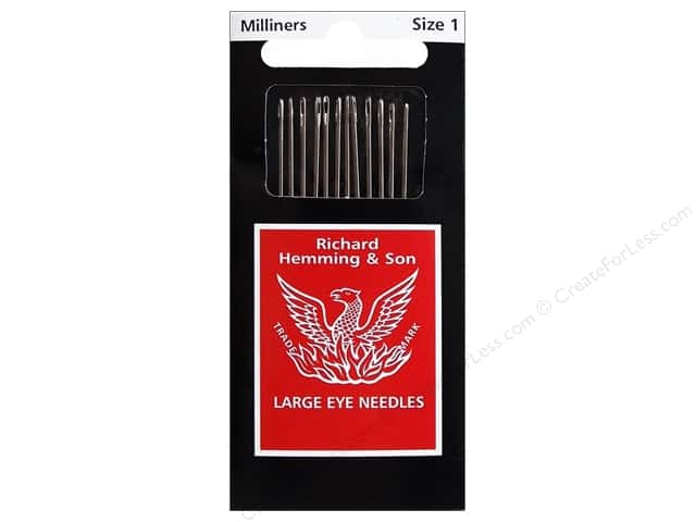 Hemming Needle Milliners/Straw Size 1 12pc