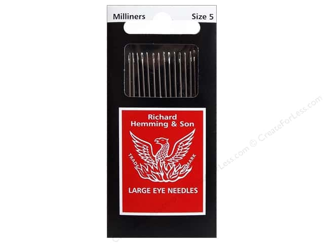 Hemming Needle Milliners/Straw Size 5 20pc