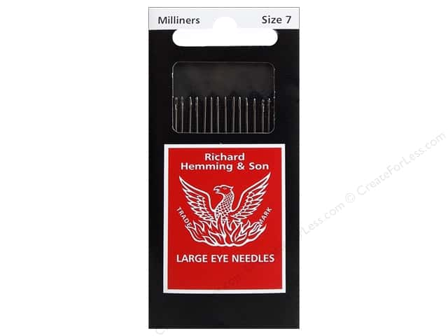 Hemming Needle Milliners/Straw Size 7 20pc