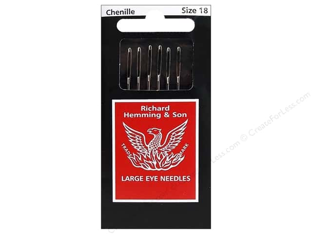 Hemming Needles Chenille Size 18 6pc