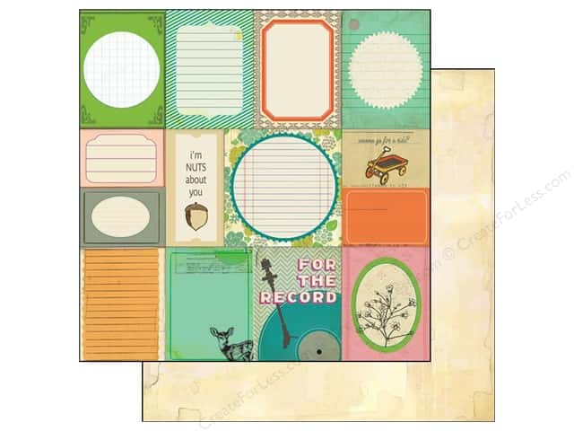 Crate Paper 12 x 12 in. Paper Acorn Ave Accent Cuts (25 sheets)