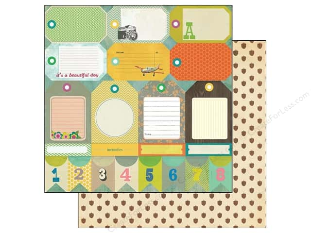 Crate Paper 12 x 12 in. Paper Acorn Ave Tag Cuts (25 sheets)