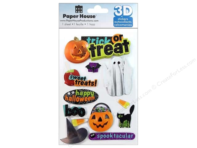 Paper House Sticker 3D Trick Or Treat