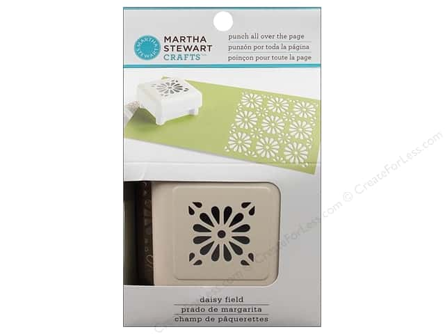 Martha Stewart Punch All Over The Page Daisy Field Pattern