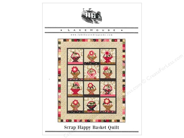 Lakehouse Scrap Happy Basket Quilt Pattern