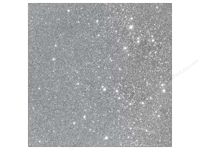 American Crafts 12 x 12 in. Cardstock Duotone Glitter Silver (15 sheets)