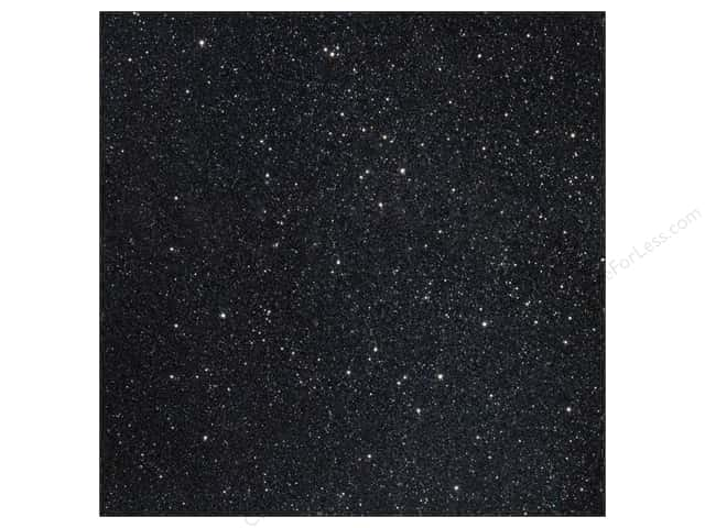 American Crafts 12 x 12 in. Cardstock Duotone Glitter Black (15 sheets)