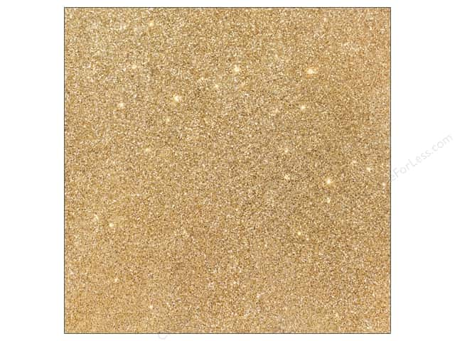 American Crafts 12 x 12 in. Cardstock Duotone Glitter Oatmeal (15 sheets)