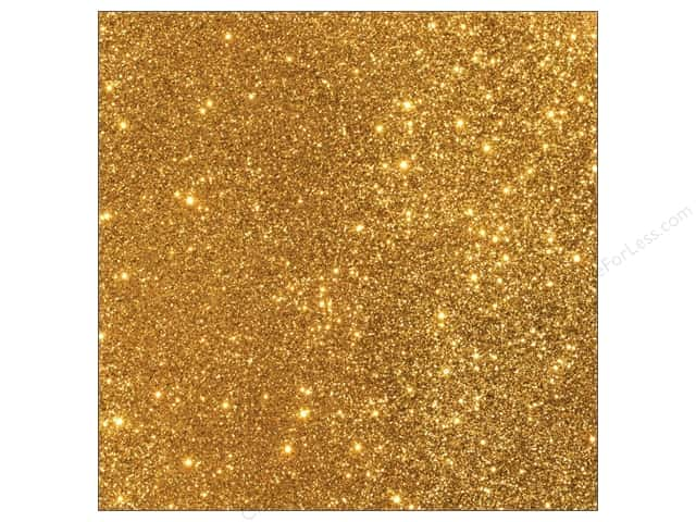 American Crafts 12 x 12 in. Cardstock Duotone Glitter Gold (15 sheets)