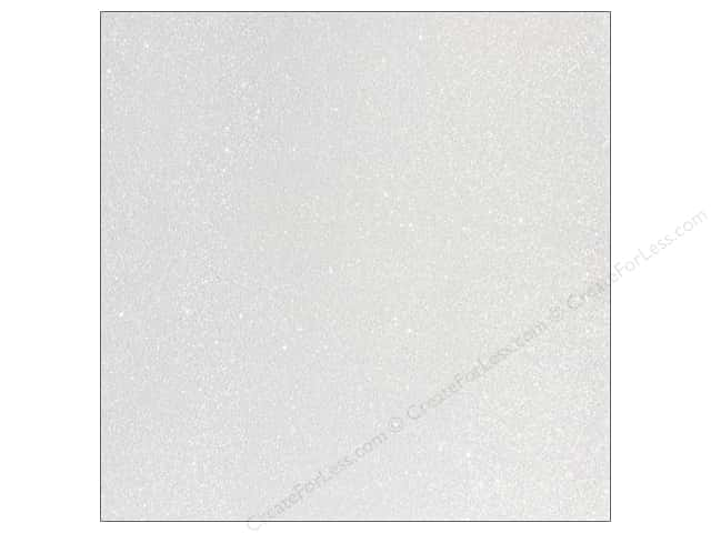 American Crafts 12 x 12 in. Cardstock Duotone Glitter White (15 sheets)