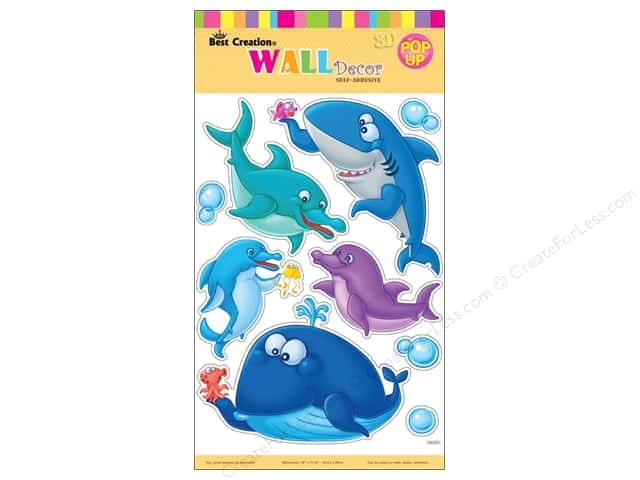 Best Creation Wall Decor Stickers Pop-Up Cartoon Shark