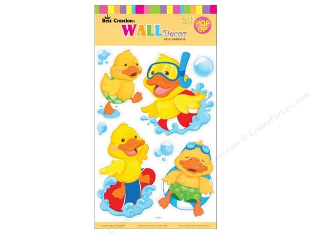 Best Creation Wall Decor Stickers Pop-Up Little Yellow Ducks