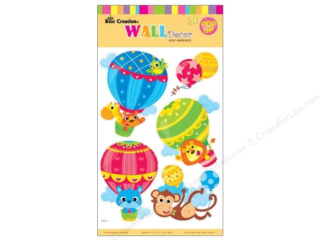 Best Creation Wall Decor Stickers Pop-Up Hot Air Balloons