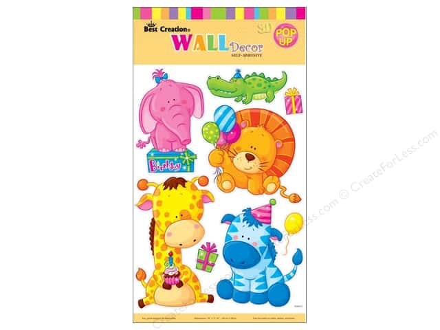 Best Creation Wall Decor Stickers Pop-Up Animal Birthday