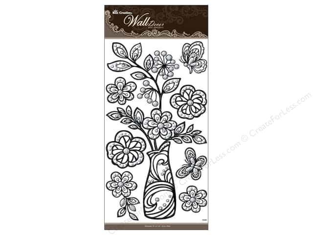 Best Creation Wall Decor Stickers 3D Black Crystal Vase