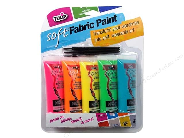 Tulip Soft Fabric Paint Set 0.9oz Multi Neon 5pc