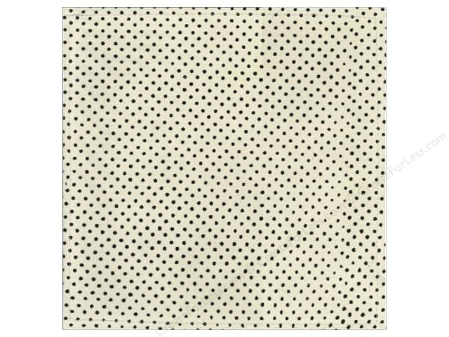 "Making Memories Paper 12""x 12"" Millinery Net Mini Dot Black (12 sheets)"