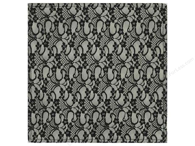 """Making Memories Paper 12""""x 12"""" Millinery French Lace Black (12 sheets)"""