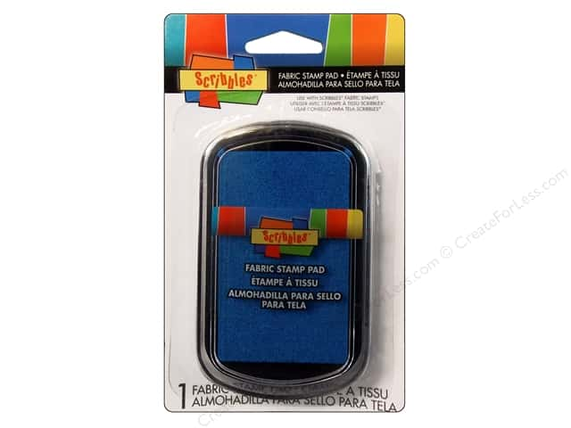 Scribbles Fabric Stamp Pad Bright Blue