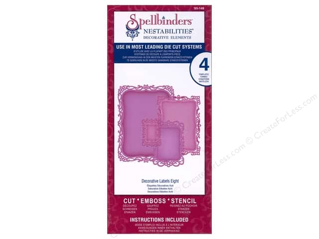 Spellbinders Nestabilities Die Decorative Labels Eight