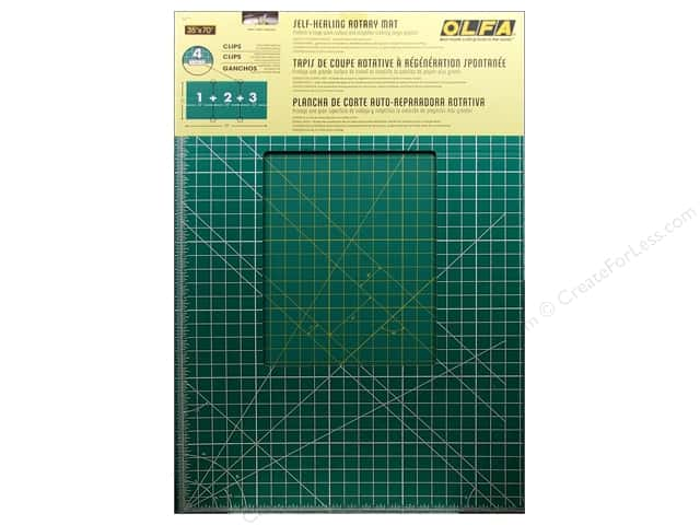 Olfa Cutting Mat 35 x 70 in. Green with Yellow Grid