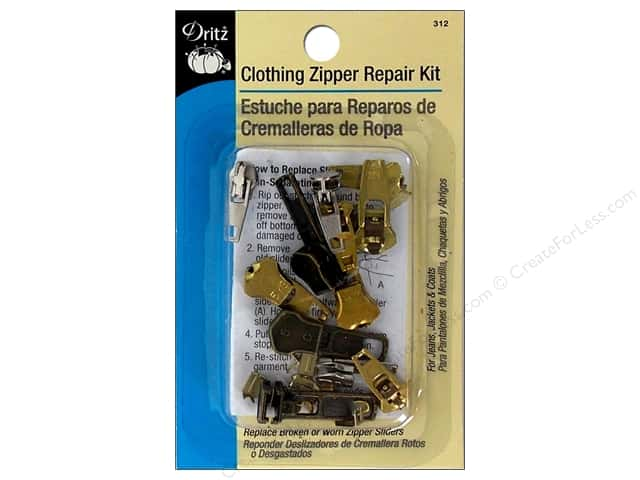 Zipper Repair Kit by Dritz Clothing