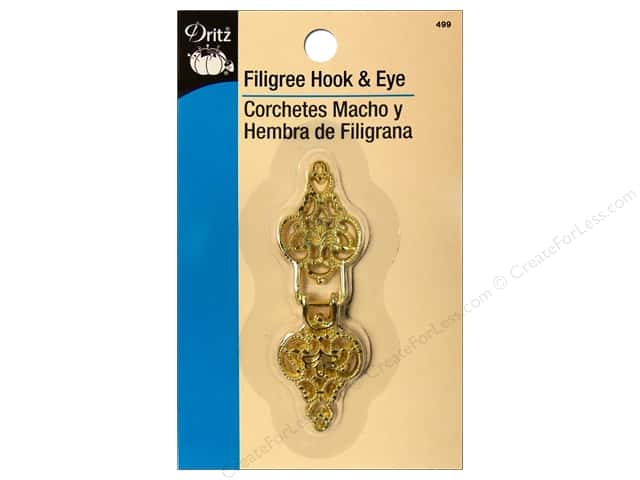Dritz Filigree Hooks & Eye - Gold