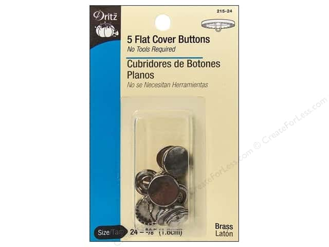 Cover Buttons by Dritz Flat 5/8 in. 5 pc.