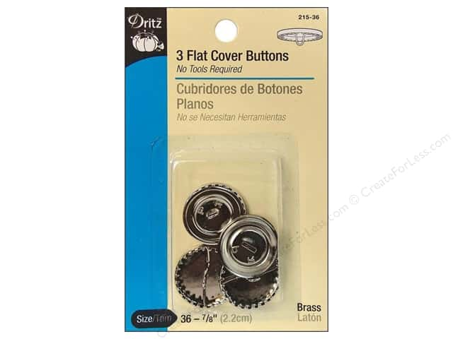 Dritz Flat Cover Buttons - 7/8 in. 3 pc.