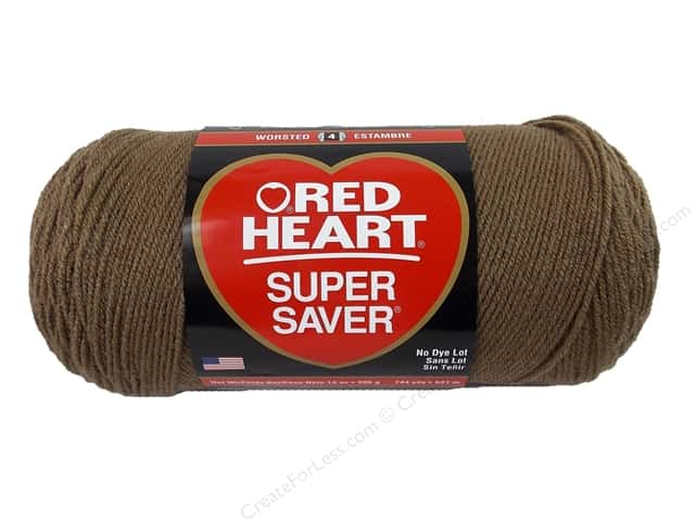 Red Heart Super Saver Jumbo Yarn 744 yd. #360 Cafe Latte